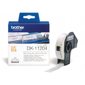 4x Etiketten für Brother P-Touch QL-1050N 1060N 500A 550 570 650TD 700 710W 720