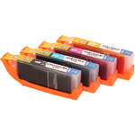 Compatible Set 4x printer cartridge For Canon CLI581XXL BKCMY by ABC